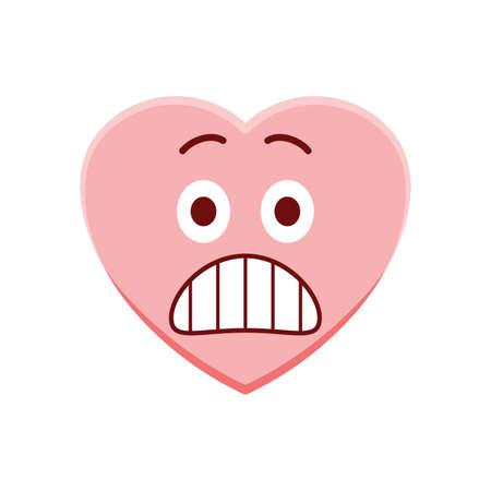 panicked: Heart character terrified