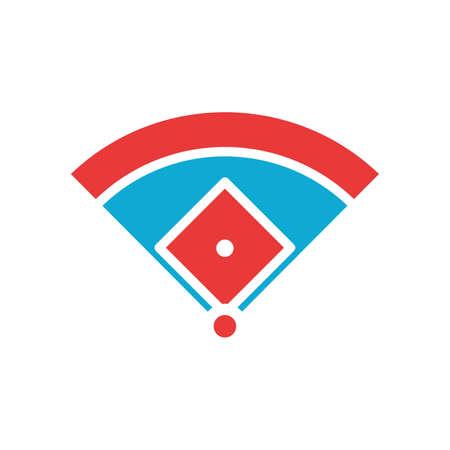 野球のフィールドの大きさ  イラスト・ベクター素材
