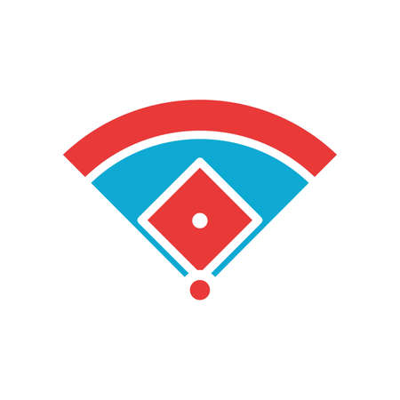 Baseball field dimensions Illustration