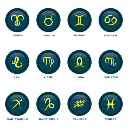 Set of horoscope icons