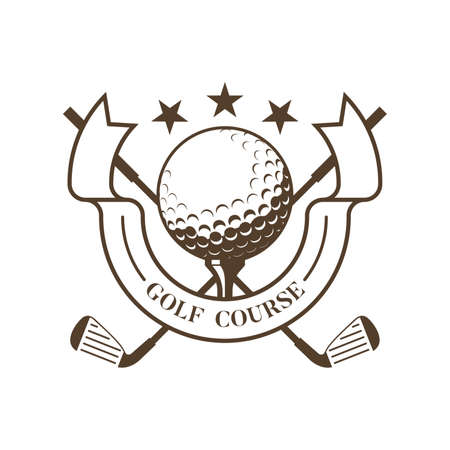 insignia del club de golf