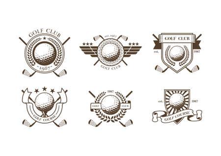 Colección de insignias de club de golf