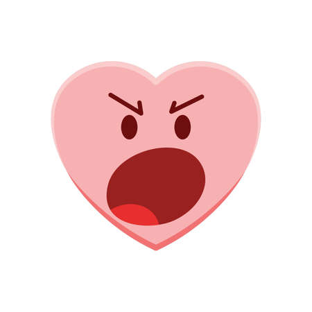 tempered: Heart character feeling angry