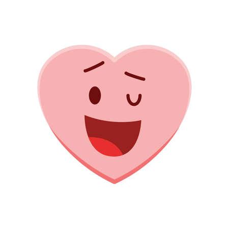 heart character winking