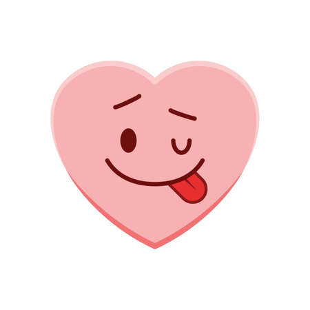 heart character with cheeky smile
