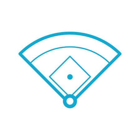 dimensions: Baseball field dimensions Illustration