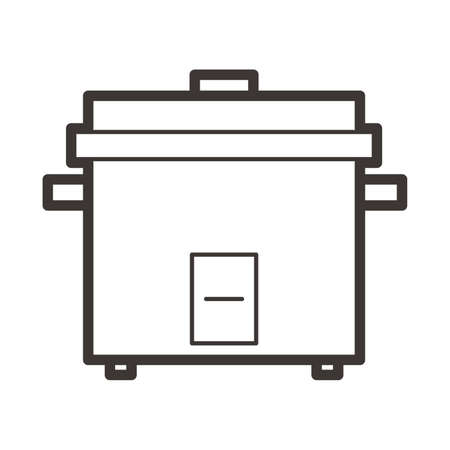 rice cooker: Rice cooker Illustration