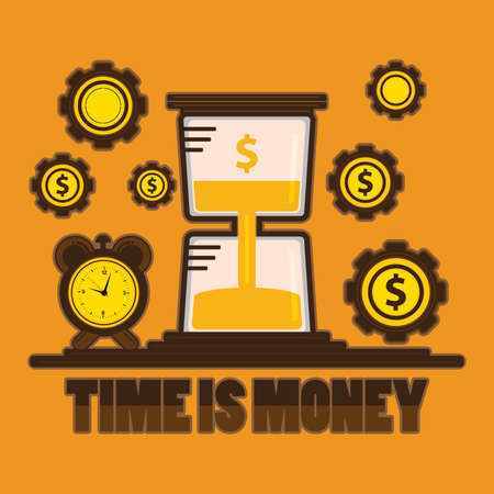 Time is money concept Illustration