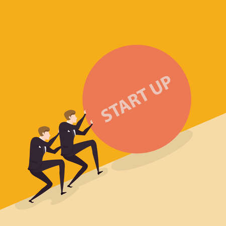 uphill: Business start up concept