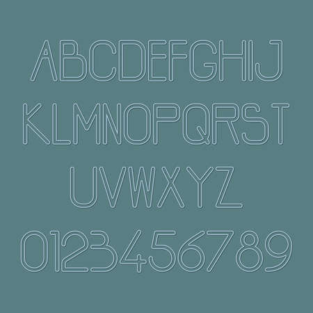 Set of alphabet and number icons