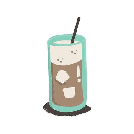 Ice coffee drink Illustration