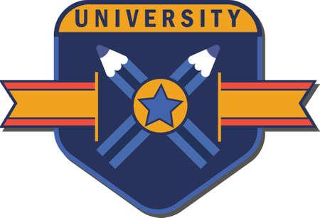 University logo element Stok Fotoğraf - 74131823