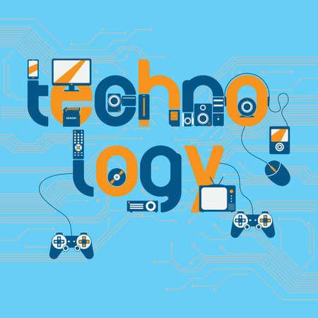 Technology lettering design