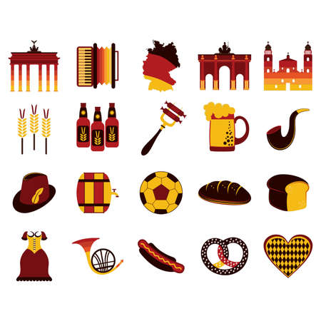 loaf: Set of germany icons