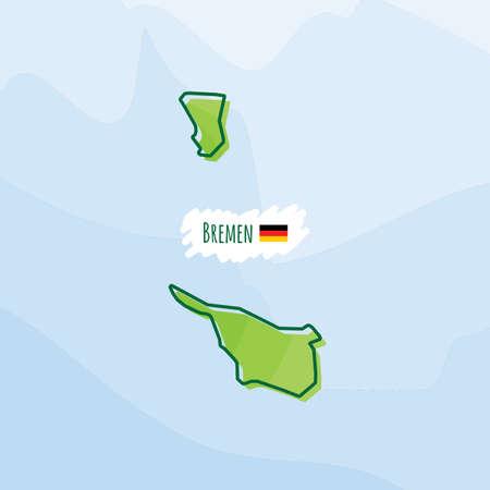 bremen: Map of bremen, germany