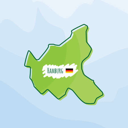 Karte von hamburg, deutschland Standard-Bild - 74066674