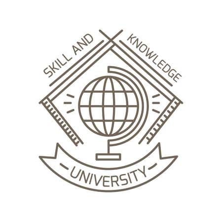 globe logo: university logo element Illustration