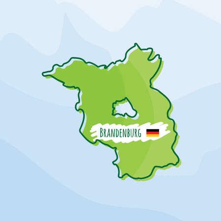 Karte von brandenburg, deutschland Standard-Bild - 74294261
