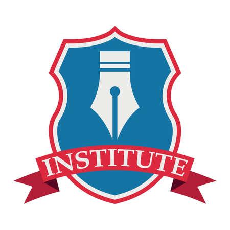 institute logo element Stok Fotoğraf - 74132448