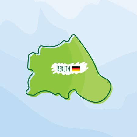 Karte von berlin, deutschland Standard-Bild - 74066737