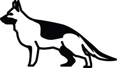 základní: german shepherd dog Ilustrace