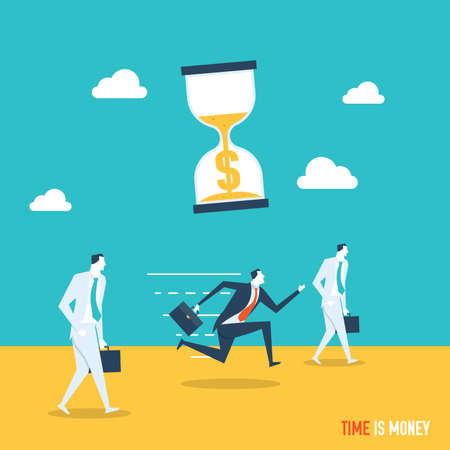 appointments: Time is money concept Illustration