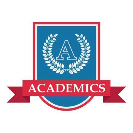 academics logo element Stok Fotoğraf - 74219281