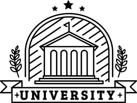 university logo element Illustration