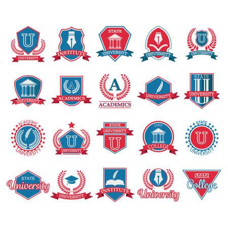 ensemble d'éléments de logo universitaires