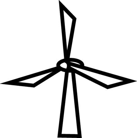 environmental awareness: windmill Illustration