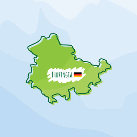 map of thuringia, germany