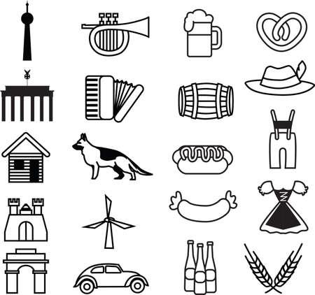 volkswagen: set of germany icons