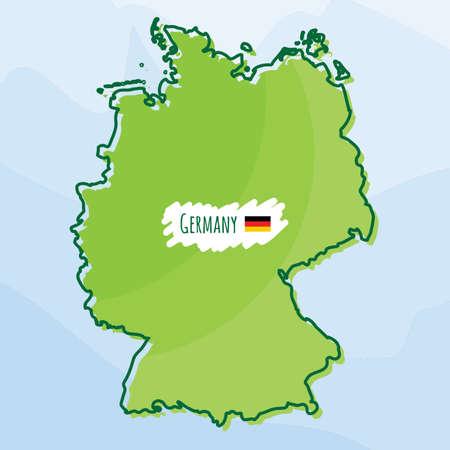 Karte von Deutschland Standard-Bild - 74219602