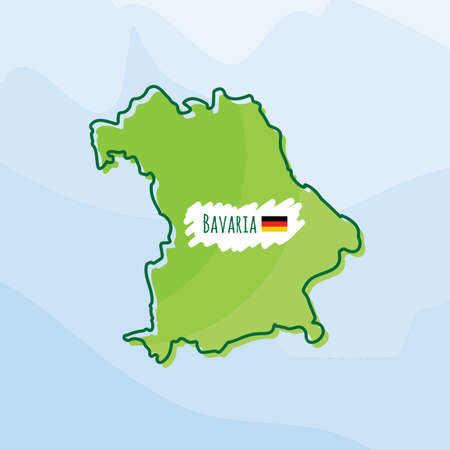 map of bavaria, germany Illustration