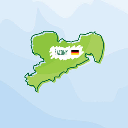 map of saxony, germany Illustration