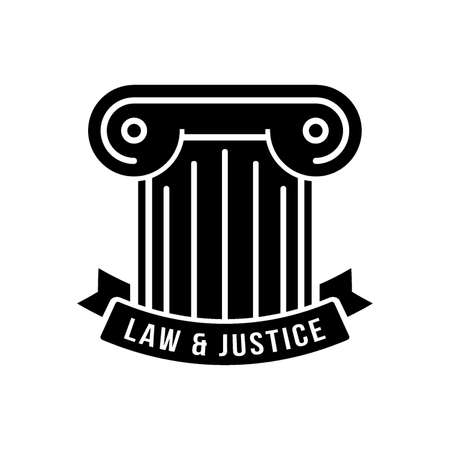 law and justice logo element