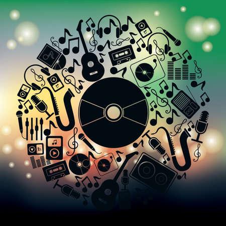 Concept d'articles de musique