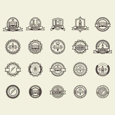ensemble d'icônes universitaires élément logo