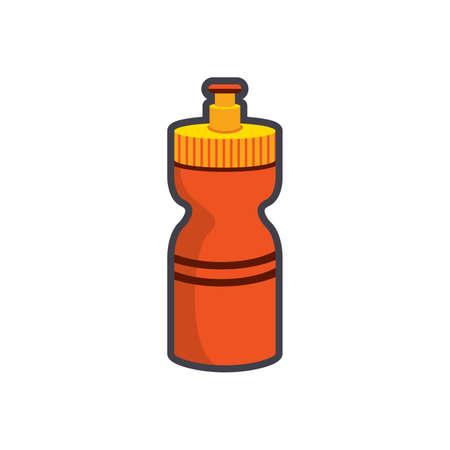 vaso de precipitado: botella de agua