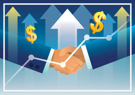 co operation: business cooperation concept Illustration