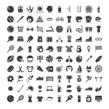 conjunto de iconos de los deportes