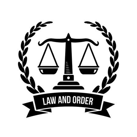 law and order logo element Stock Vector - 74165481