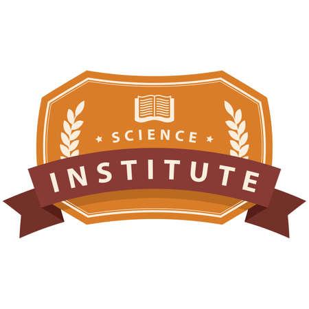 Élément de logo de l'institut de science