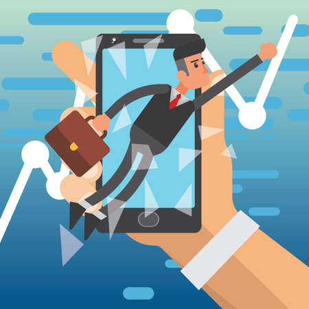 break the limit business concept Illustration