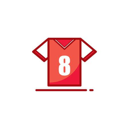 soccer: soccer jersey Illustration