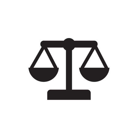 impartiality: scales of justice Illustration