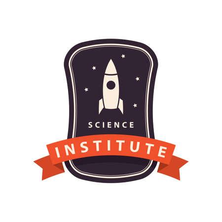 science institute logo element Illustration