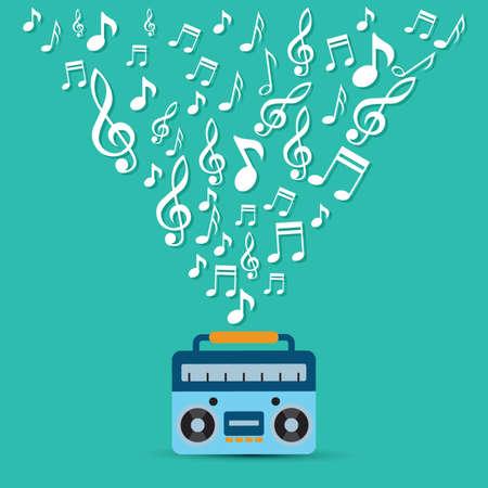 Radio con el concepto de la música