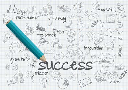 ビジネスの成功の概念