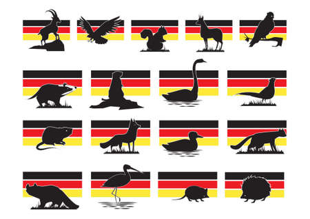set of germany animals icons